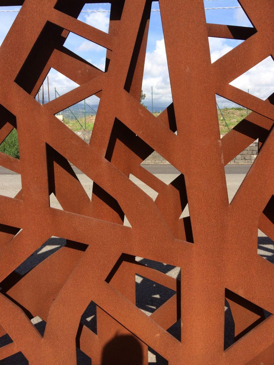 Corten steel gate