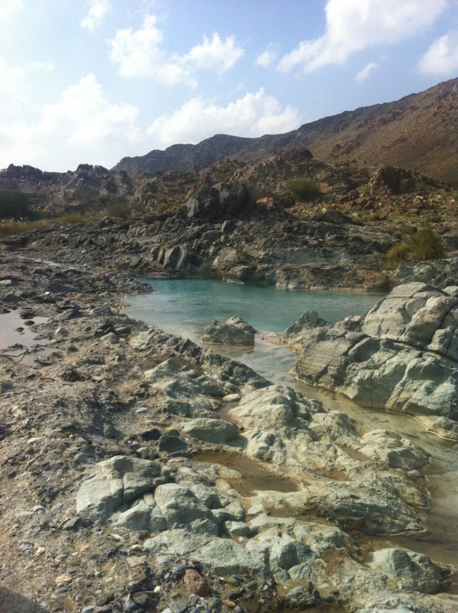 Sulphur springs in Oman