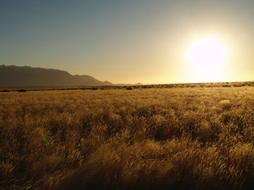 Sunset in Namibia