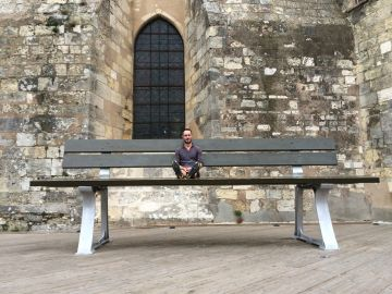Large bench or small man